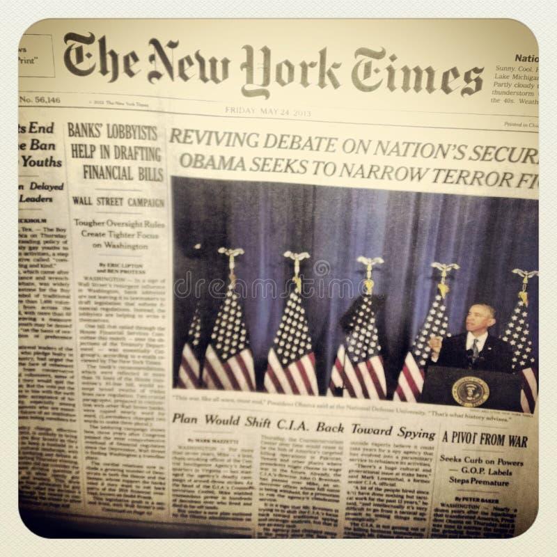 El periódico de New York Times imagen de archivo