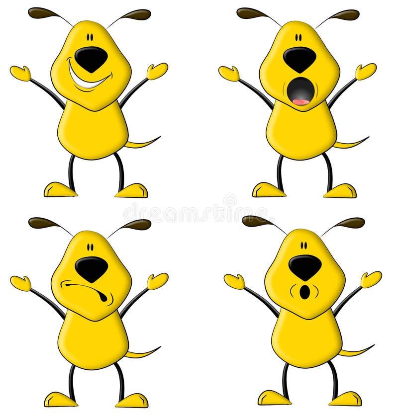 El perro amarillo stock de ilustración