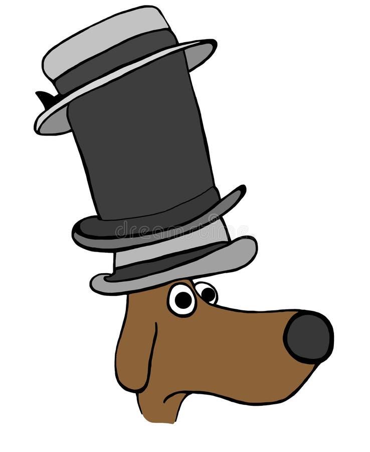 El perro debe llevar muchos sombreros imagenes de archivo