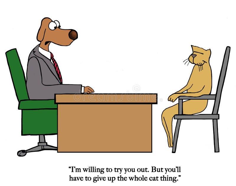 El perro dice el gato parar ilustración del vector