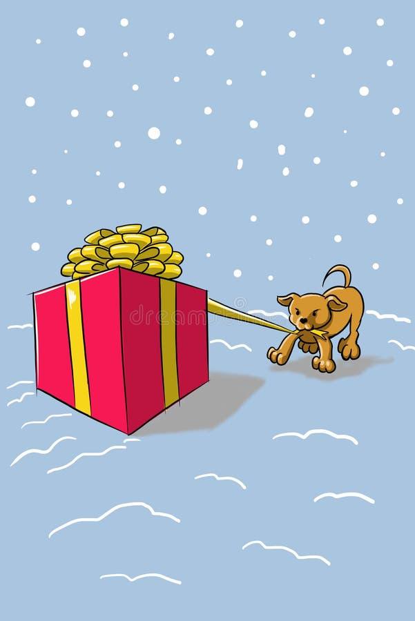 El perro está durmiendo el noche del ` s del Año Nuevo fotos de archivo libres de regalías