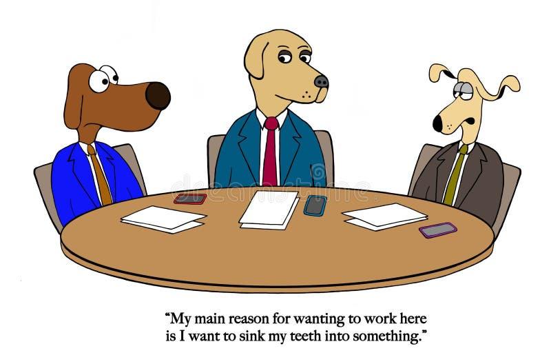 El perro quiere morder algo stock de ilustración