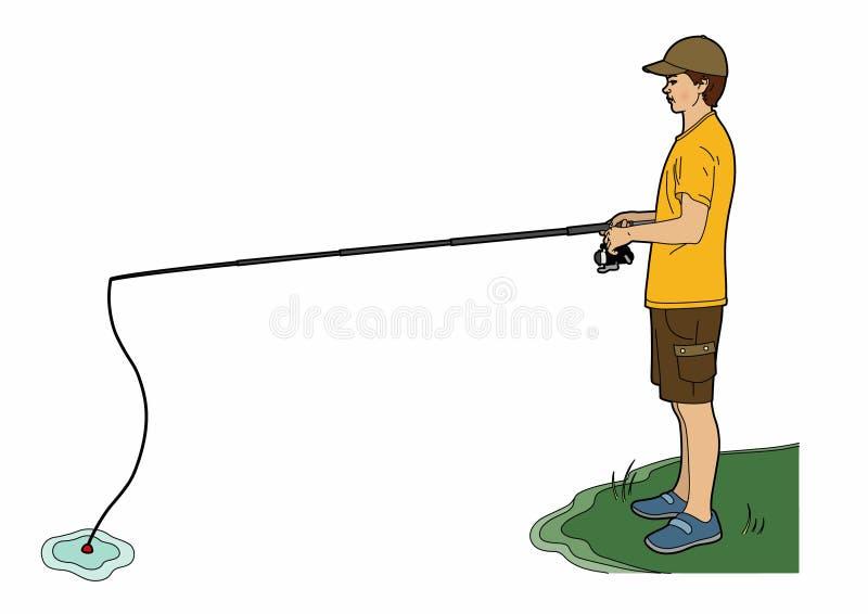 El pescador stock de ilustración