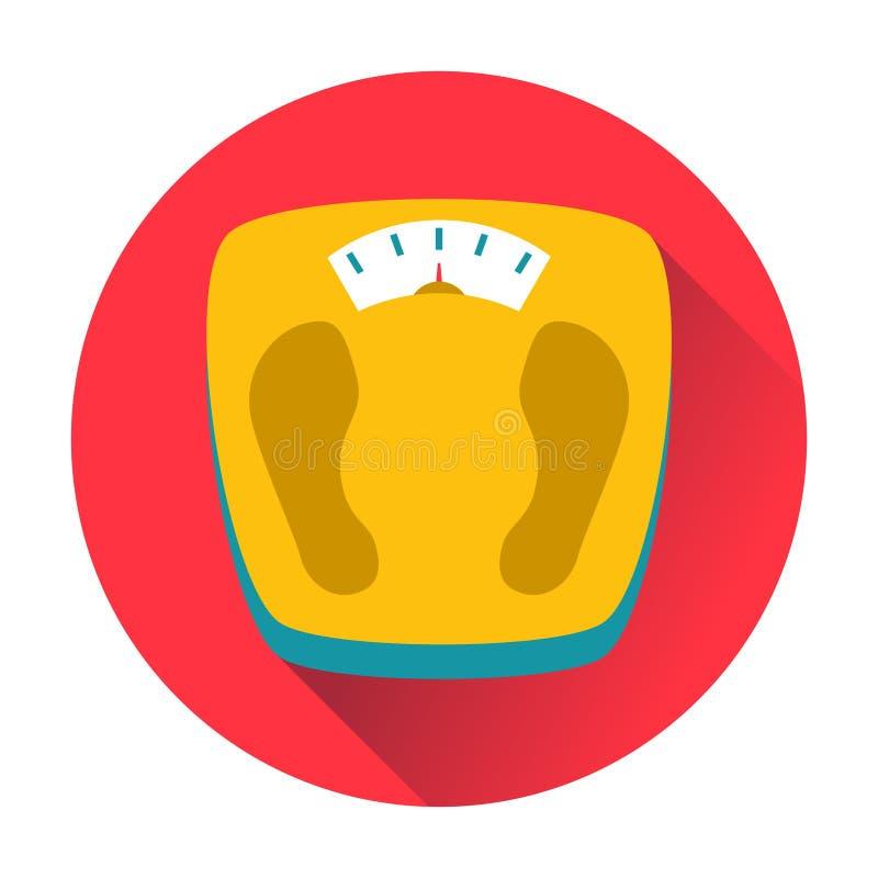 El peso escala el icono ilustración del vector