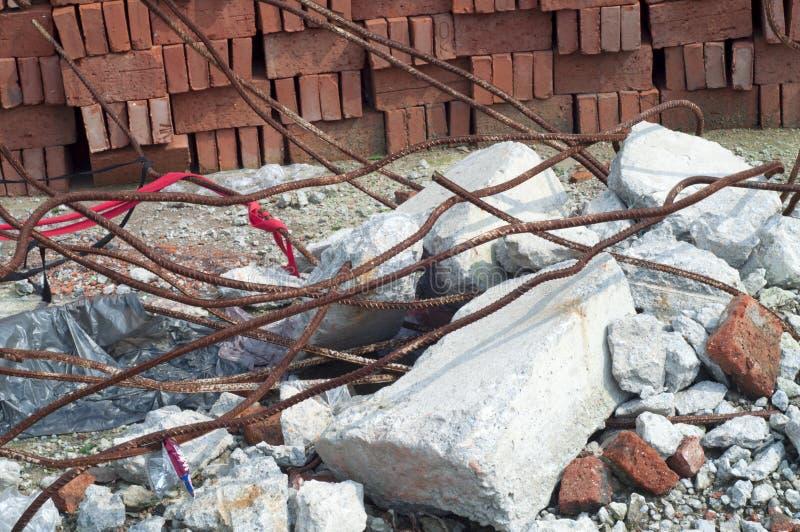 Escombros de la demolición fotografía de archivo libre de regalías