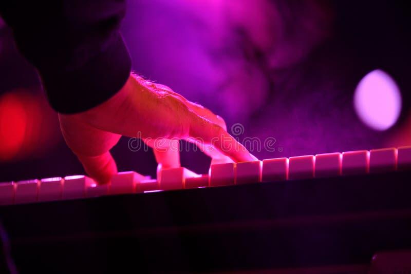 El pianista de Antibalas (banda) se realiza en el festival 2014 del sonido de Heineken Primavera (PS14) imágenes de archivo libres de regalías