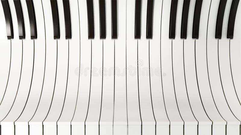 El piano abstracto cierra el fondo ilustración 3D libre illustration