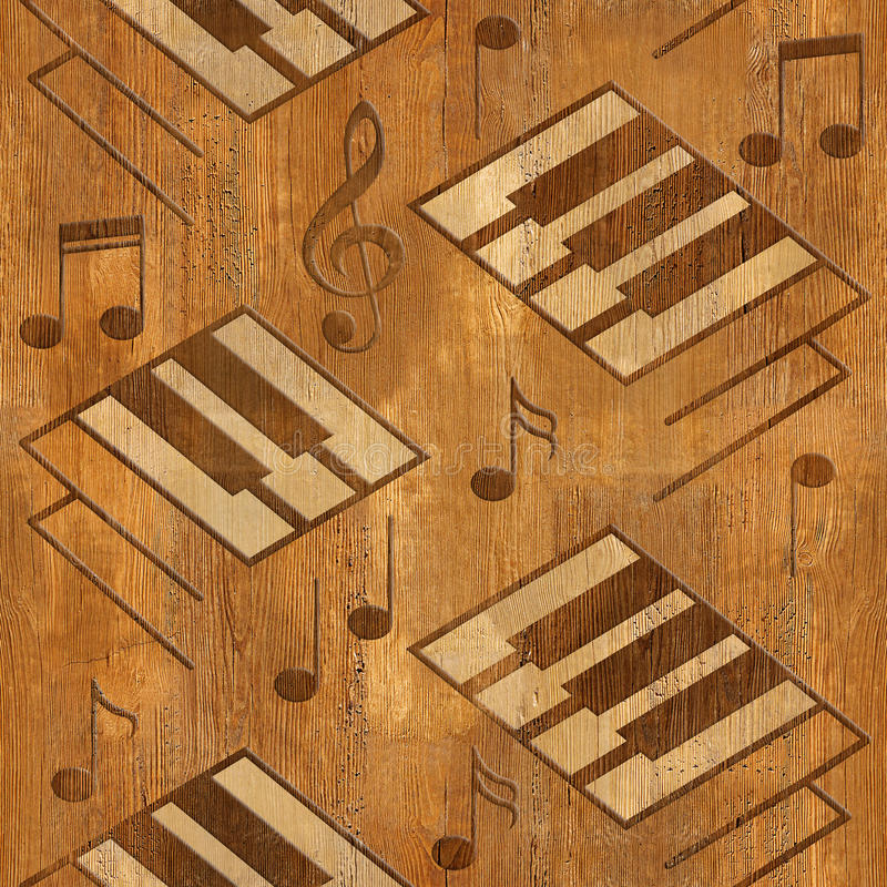 El piano decorativo abstracto cierra - la textura de madera - backgro inconsútil libre illustration