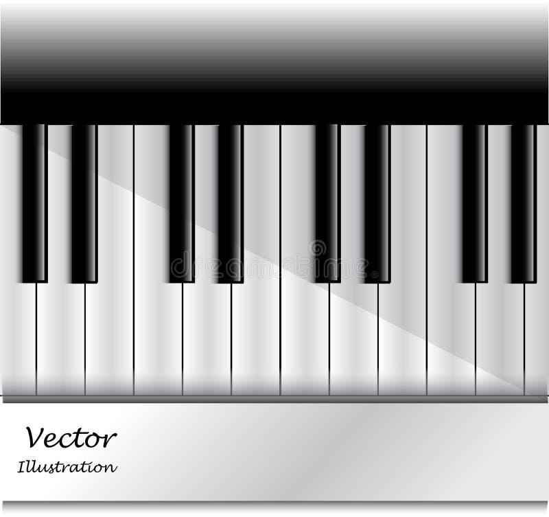 Llaves del piano ilustración del vector