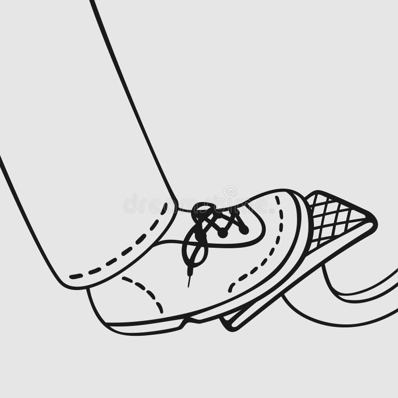 El pie en el acelerador ilustración del vector