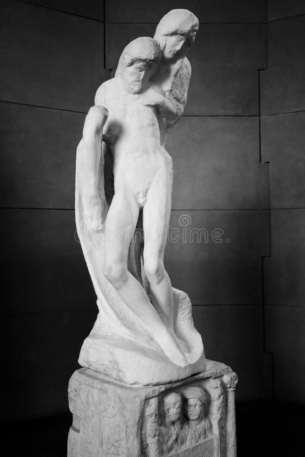 El Pieta de Rondanini de Michelangelo Buonarroti foto de archivo libre de regalías