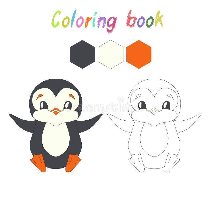El pingüino del libro de colorear embroma la disposición para el juego libre illustration