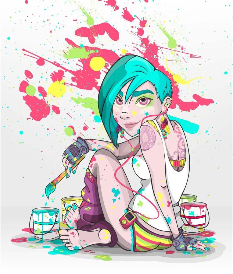 El pintor libre illustration