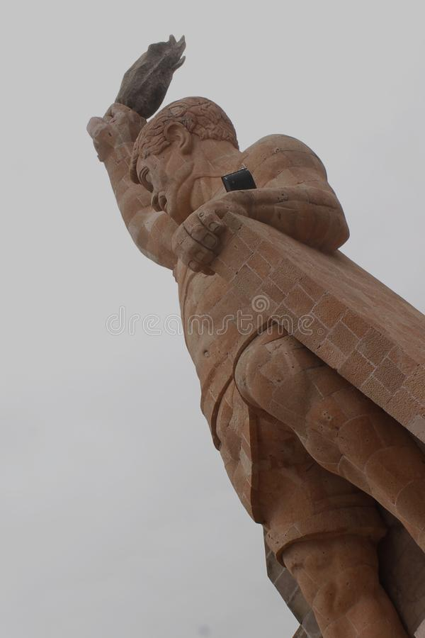 El Pipila, big statue in Guanajuato City royalty free stock images