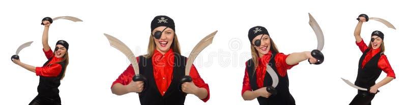 El pirata de la mujer imagen de archivo