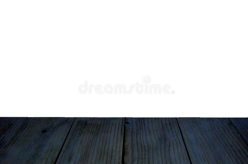 El piso de madera es negro y mitad-aislado stock de ilustración