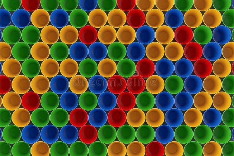 El plástico colorido ahueca Backround representación 3d libre illustration