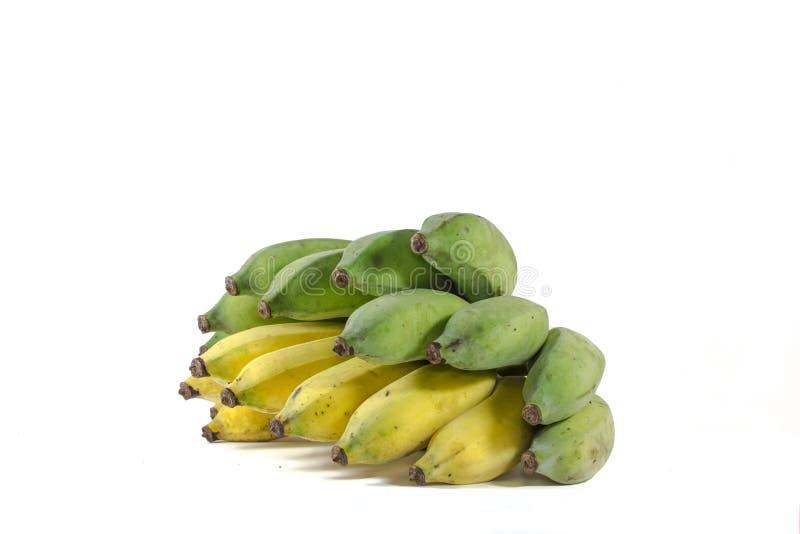 El plátano amarillo y verde foto de archivo
