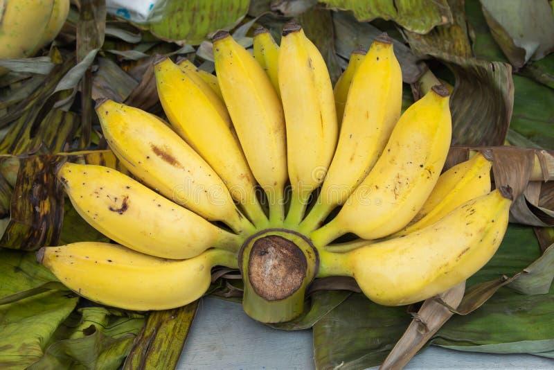 El plátano maduro cocinado come fotografía de archivo libre de regalías