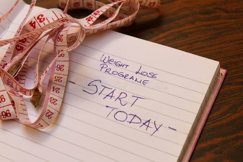 El plan de la pérdida de peso, comienza hoy imágenes de archivo libres de regalías