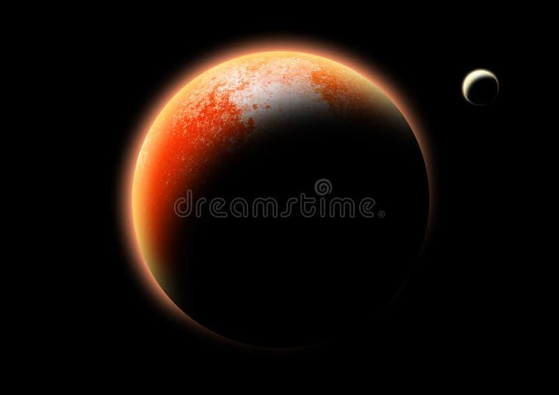 El planeta rojo stock de ilustración