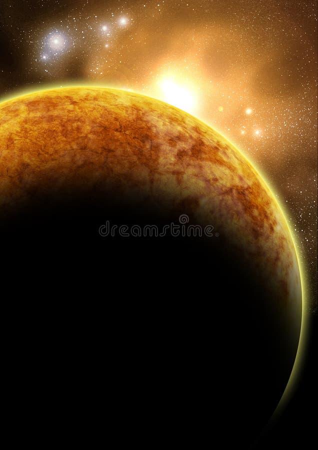 El planeta rojo ilustración del vector