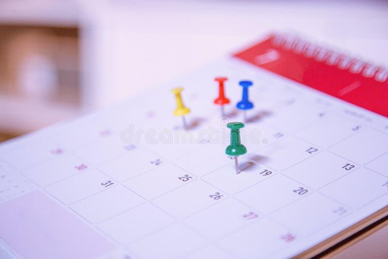 El planificador de eventos del calendario está ocupado imagen de archivo