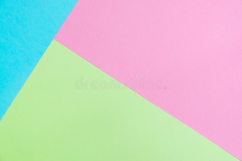 El plano del papel coloreado del pastel pone la visión superior, textura del fondo, rosa imagenes de archivo