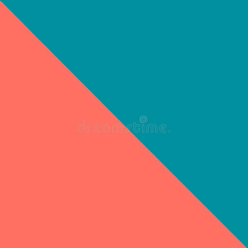 El plano moderno azul y rosado del color doble pone el backgound Tema coralino de vida - color del año 2019 fotos de archivo libres de regalías