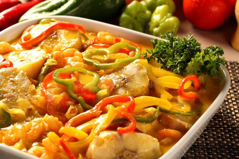 El plato brasileño tradicional llamó Moqueca de peixe imagen de archivo libre de regalías