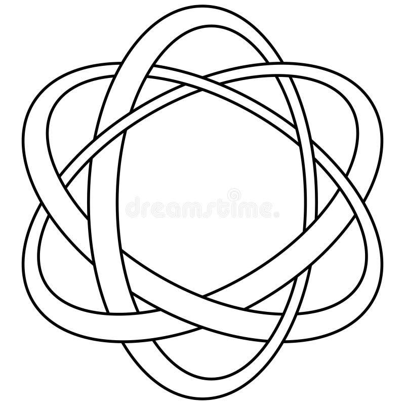 El plexo suena el símbolo de estilo celta Sello para la joyería de plata ilustración del vector