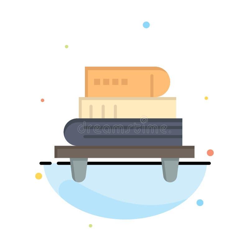 El poder, conocimiento, educación, libros resume la plantilla plana del icono del color libre illustration