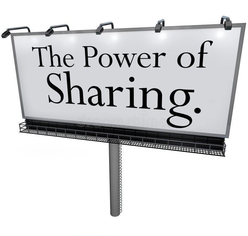 El poder de compartir el mensaje de la cartelera dona da a ayuda otras stock de ilustración