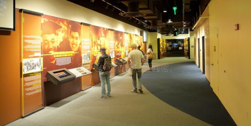 El poder del objeto expuesto de la educación en el museo nacional de las derechas civiles en Lorraine Motel imagen de archivo libre de regalías