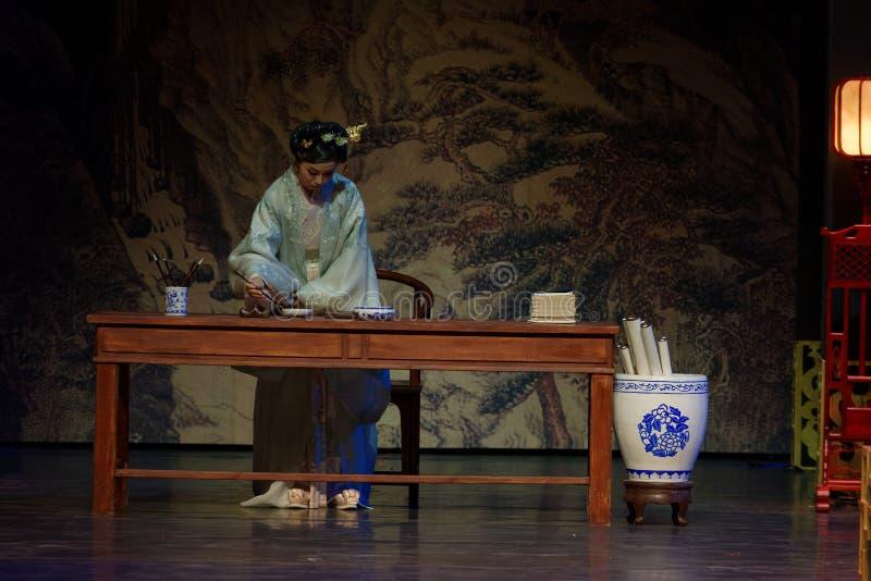 El poema del acto de princesa Lou-The en segundo lugar: la noche del drama histórico ejército-grande, ` Yangming ` de tres noches fotografía de archivo