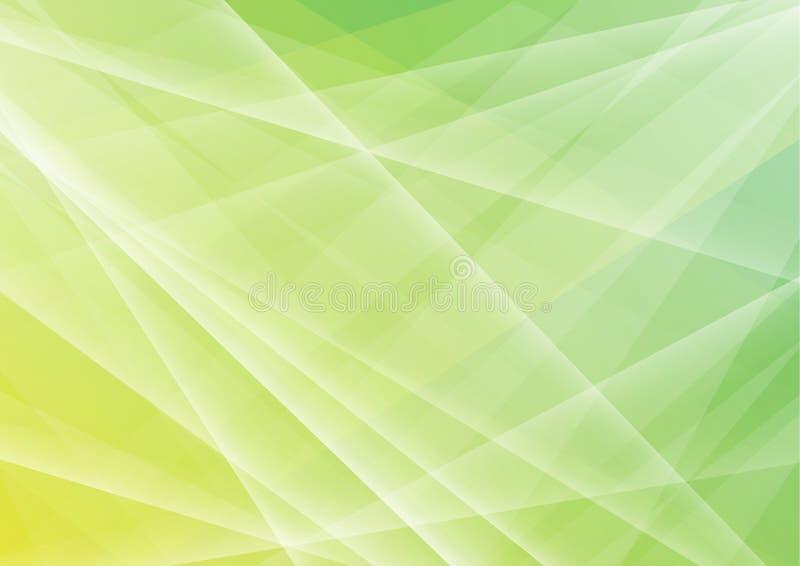 El polígono verde abstracto forma el fondo libre illustration