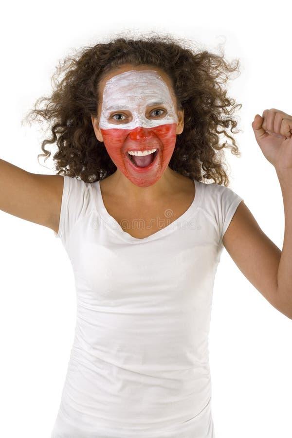 El polaco feliz se divierte al entusiasta fotos de archivo