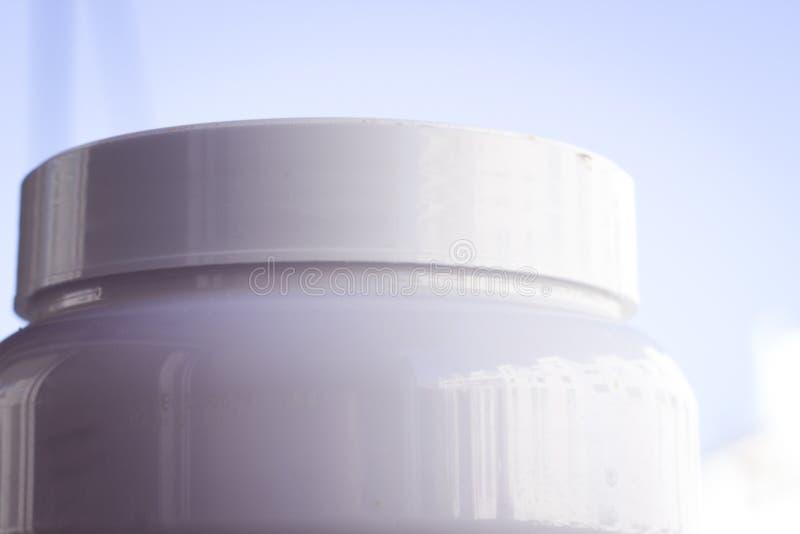 El polvo de la proteína se divierte la nutrición imagenes de archivo