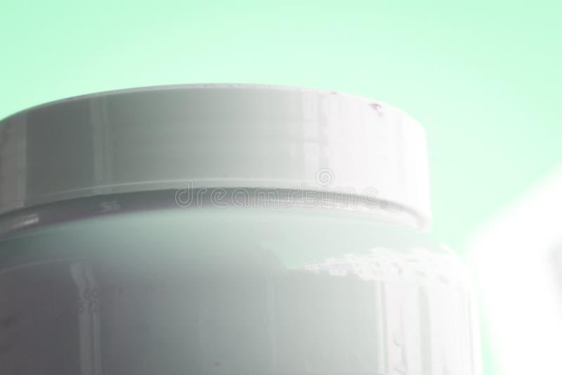 El polvo de la proteína se divierte la nutrición foto de archivo