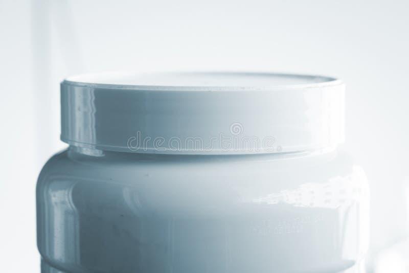 El polvo de la proteína se divierte la nutrición imágenes de archivo libres de regalías
