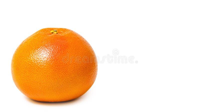 el pomelo delicioso y jugoso, lleno de vitaminas y de antioxidantes, aislado en el fondo blanco, copia el espacio, plantilla fotografía de archivo libre de regalías