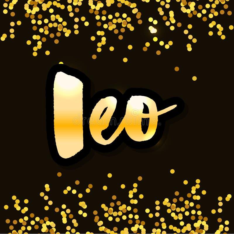 El poner letras del sagitario y de los logotipos del escorpión de 12 del zodiaco de las muestras del Capricornio Piscis Aries Tau libre illustration