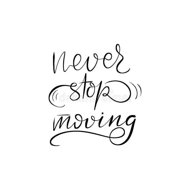 El poner letras nunca para el moverse libre illustration