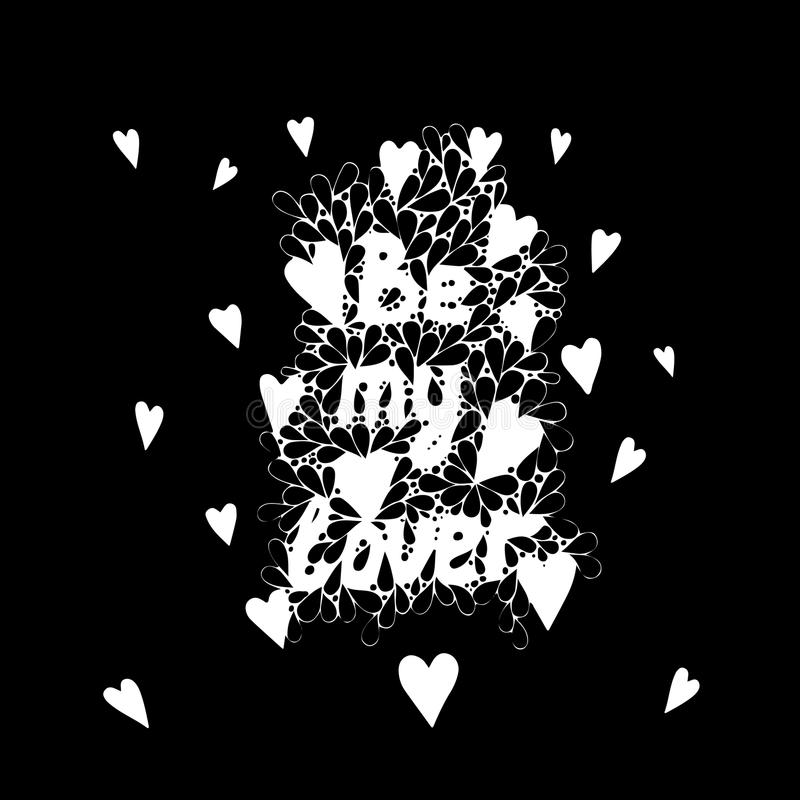 El Poner Letras Sea Mi Amante Con El Corazón En El Marco Abstracto ...