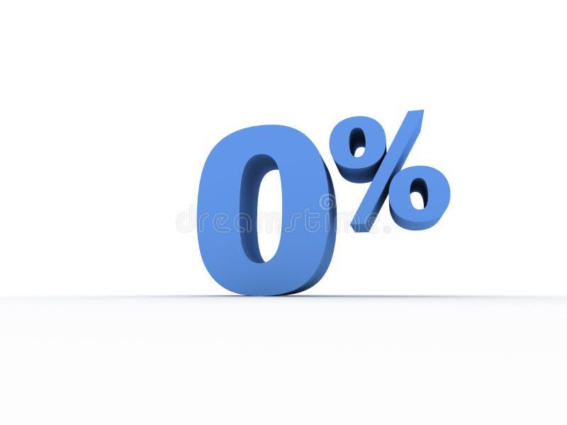 El por ciento cero ilustración del vector