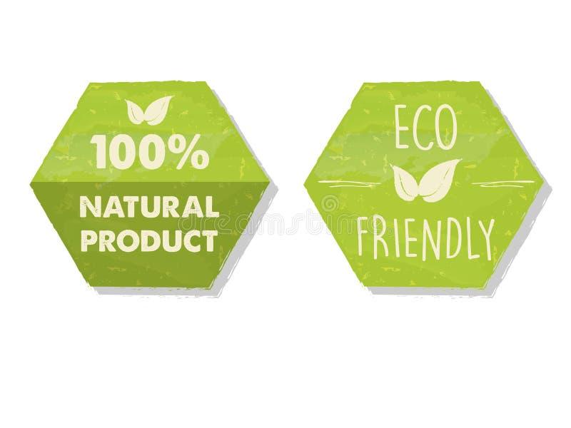 el 100 por ciento de natural y el eco amistoso con la hoja firman adentro el maleficio verde fotografía de archivo