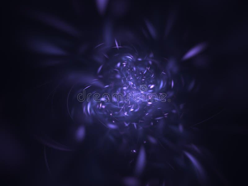 El portal del espacio protagoniza el fondo abstracto stock de ilustración