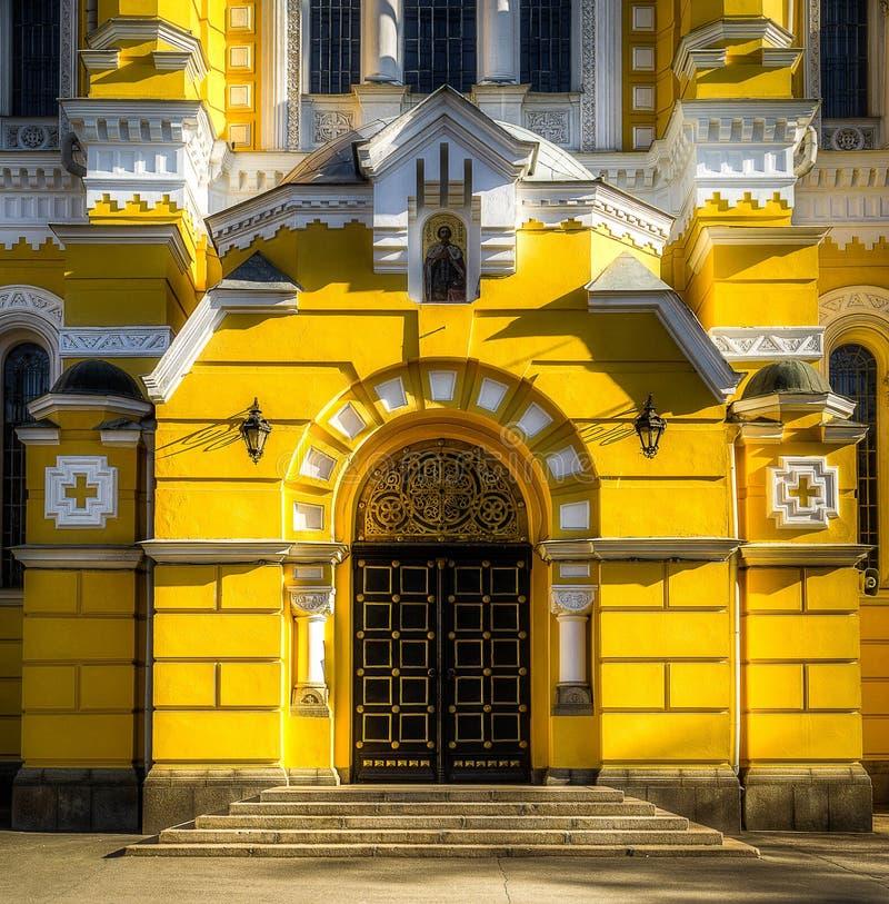 El portal occidental de la catedral de Vladimir imagen de archivo libre de regalías