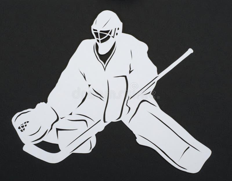 El portero del hockey foto de archivo