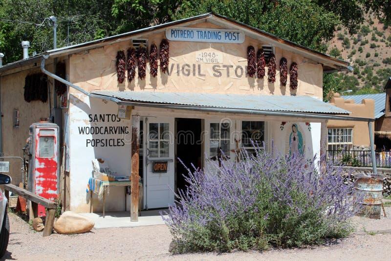 El Potrero Trading Post, New Mexico stock photo